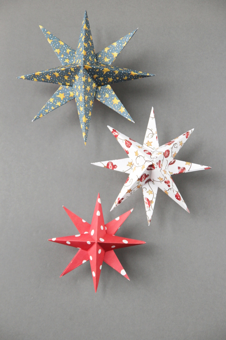 DIY 3D Paper Star Decoration by Gathering Beauty