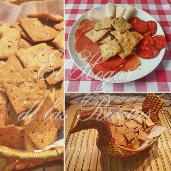 Crackers integrales con semillas de sésamo