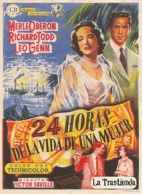 Programa de Cine - 24 Horas de la Vida de una Mujer - Merle Oberon - Richard Todd