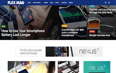 Download Free Flexmag Premium Blogger Template