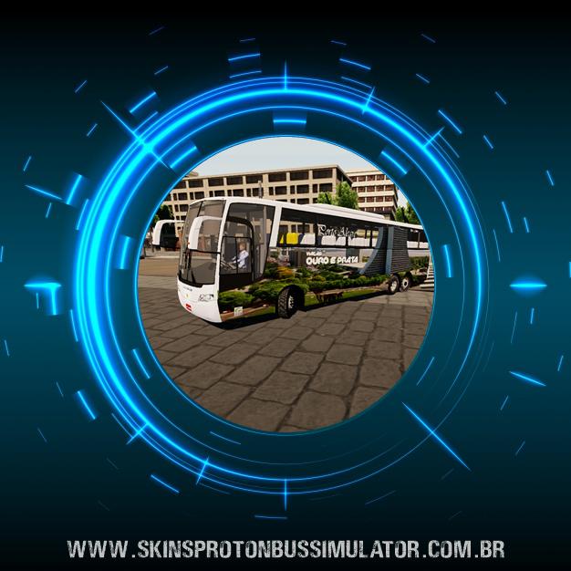 Skin Proton Bus Simulator Road - Vissta Buss HI O-500 RSD Viação Ouro e Prata