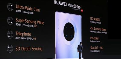 مواصفات هواوي ميت 30 برو - Huawei Mate 30 Pro   هواوي ميت Huawei Mate 30 الإصدارات: LIO-AL00, LIO-TL00  متابعي عالم الهواتف الذكيّة مرحبا بكم ، نقدم لكم مواصفات و سعر موبايل هواوي ميت Huawei Mate 30 Pro - هاتف/جوال/تليفون هواوي ميت Huawei Mate 30 Pro - الامكانيات و الشاشه و الكاميرات هواوي ميت Huawei Mate 30 Pro.