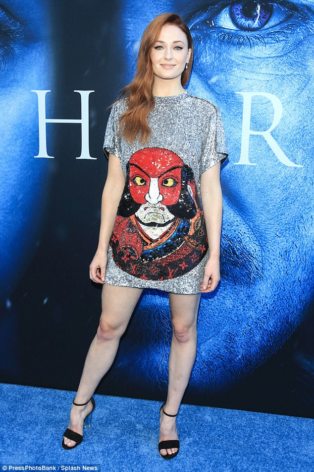 Sophie Turner bares legs at the Game of Throne Season 7 LA Premiere