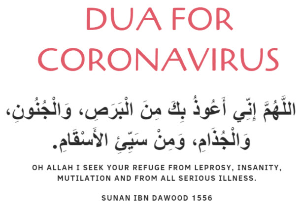 Dua and Treatment From Coronavirus