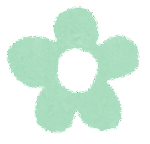 小さな花のイラスト「パステル・緑」