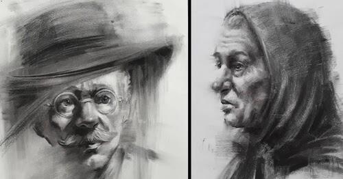 00-Portrait Drawings Pourianahaei-www-designstack-co