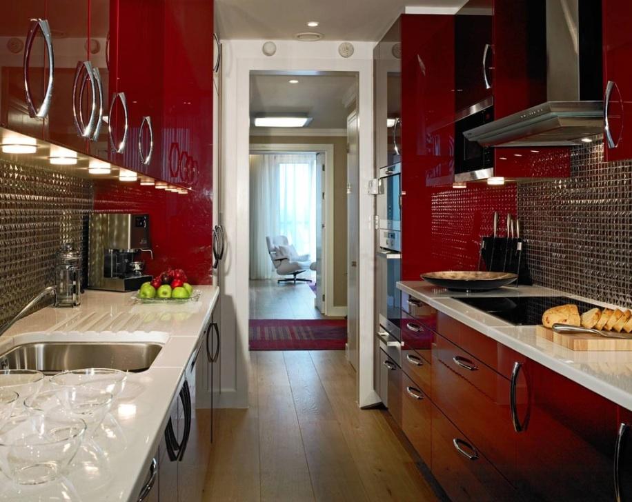 kitchen design red lacquer kitchen