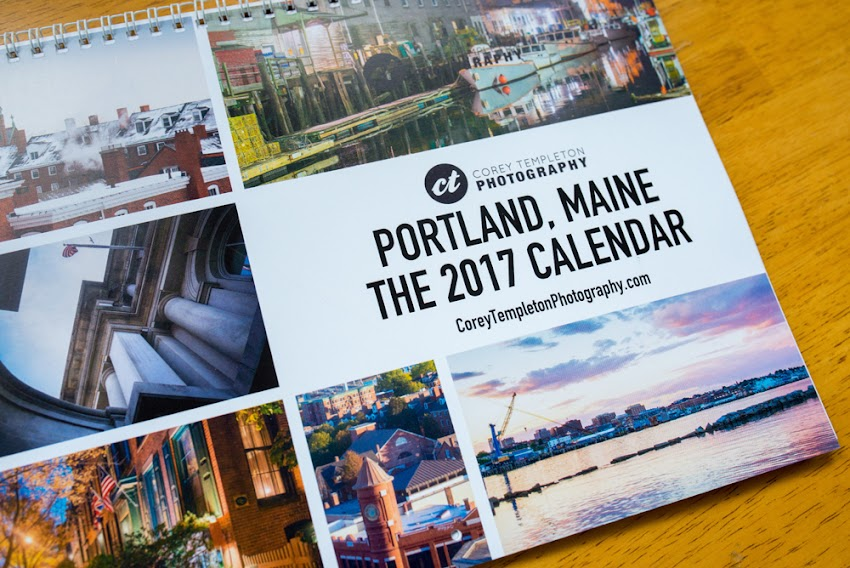 2017 Portland, Maine USA Calendar of photography by Corey Templeton.