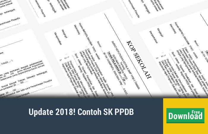 Contoh SK PPDB