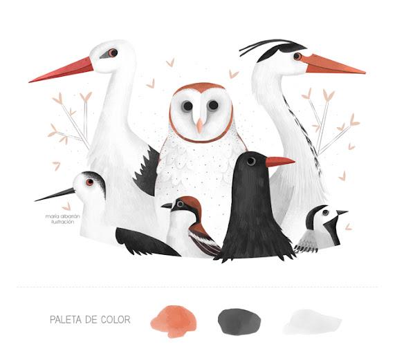 Maria Albarran ilustracion Aves