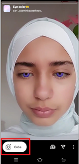 Eye color filter  instagram | Cara mendapatkan eye color filter di instagram
