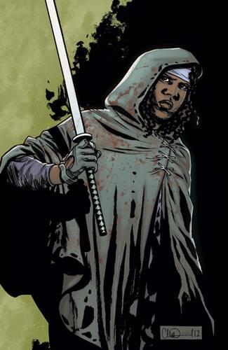 Michonne en cómics de THe Walking Dead