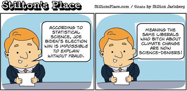 stilton's place, stilton, political, humor, conservative, cartoons, jokes, hope n' change, biden, trump, election, fraud, statistics, voting