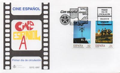 Sobre PDC de los sellos de cine español de El Sur y Viaje a ninguna parte