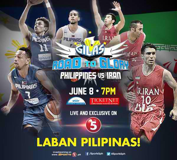 Tune-up Game: Gilas Pilipinas vs. Iran Info