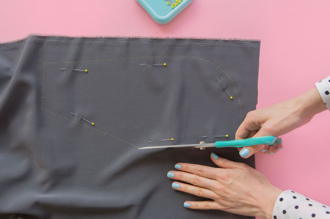Cutting and stabilising fabric - Tilly and the Buttons