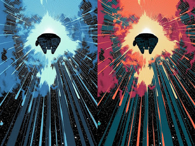 "Star Wars ""Jump Into Hyperspace"" Screen Print by Matt Taylor x Bottleneck Gallery - Regular & Variant Editions"