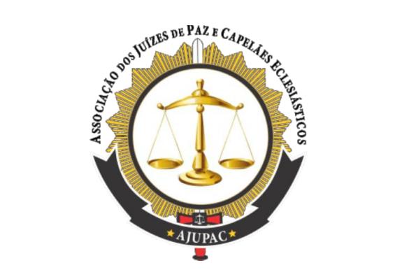 A imagem mostra o brasão da AJUPAC - Associação dos juízes de paz e capelães eclesiásticos