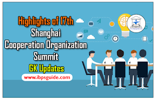 Highlights of the 17th Shanghai Cooperation Organization Summit – GK Updates