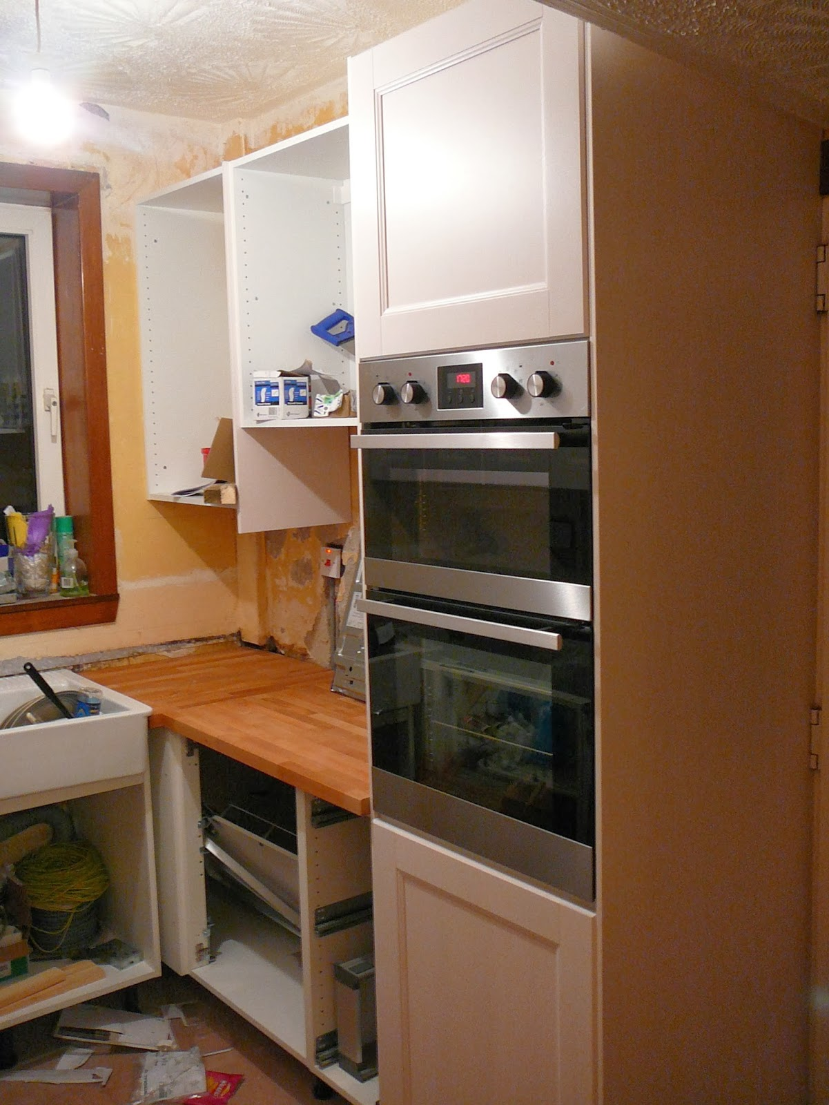 Ikea Wall Storage Units Dae It Yersel: The New Kitchen - Part 2: The Fitting