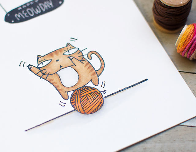 happy meowday card giveaway neat and tangled