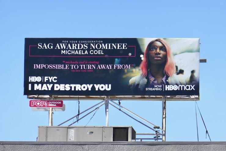 I May Destroy You SAG Award nominee billboard