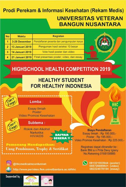 Olimpiade Nasional Kesehatan 2018 SMA Sederajat