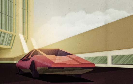 Retro Modernist Artwork in Illustrator and Photoshop