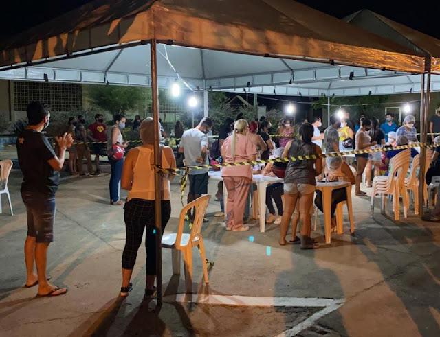90 pessoas testam positivo para covid-19 em testagem em massa realizada na noite desta quinta (17) no Jatobá em Patos