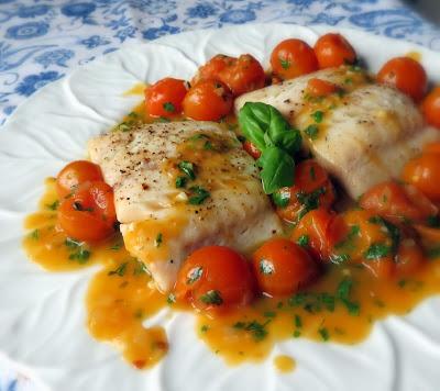 Tomato & Herb Sauced Alaskan Black Cod