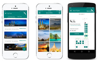 Source: SilkAir. What the new app looks like.