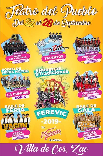 teatro del pueblo feria villa de cos 2019