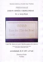 Predavanje Dodiri Brača i Burgundije Pučišća slike otok Brač Online