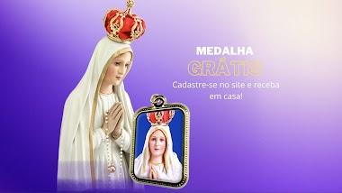 Brindes Grátis:  O site da Campanha de Fatima 2021 está enviando uma Medalha Grátis para aqueles que fizerem sua inscrição