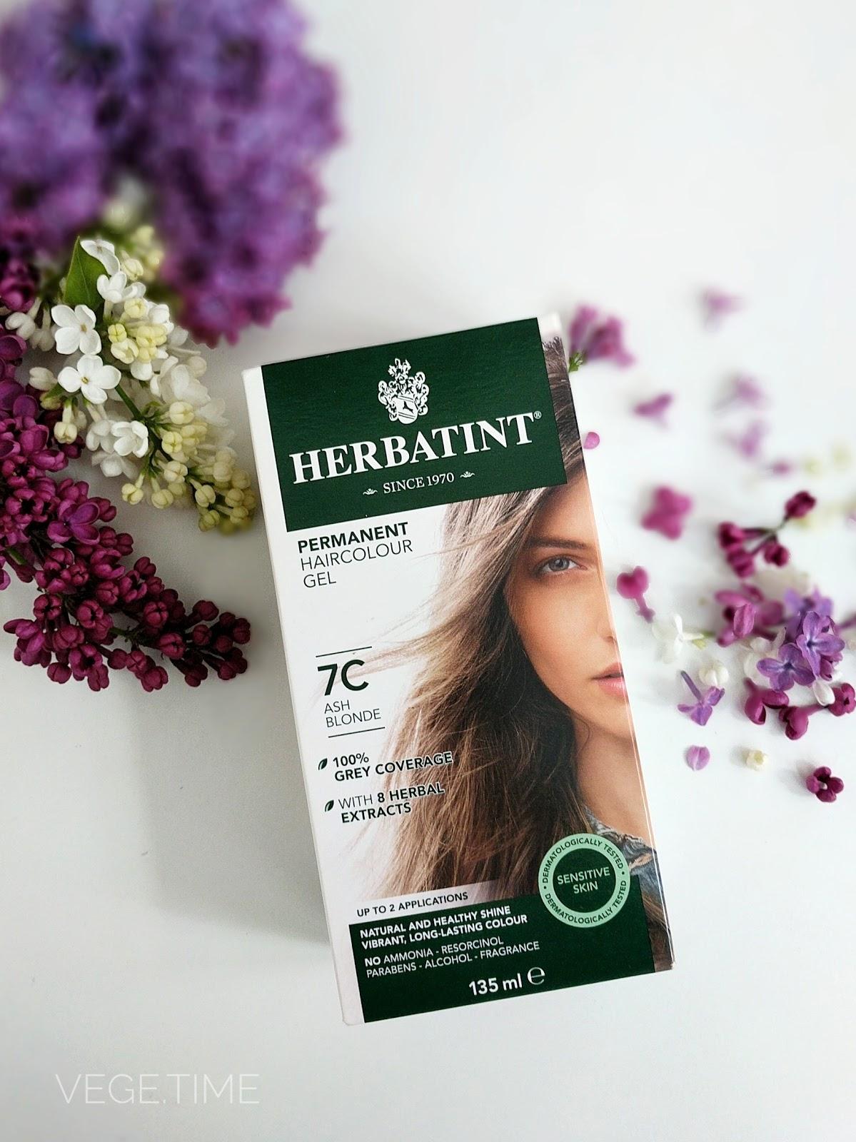 Wegańskie farbowanie – Farba do włosów Herbatint 7C popielaty blond