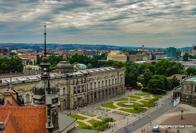 Dresden vista do alto da Hausmannsturm