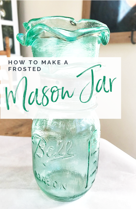 frosted mason jar with overlay