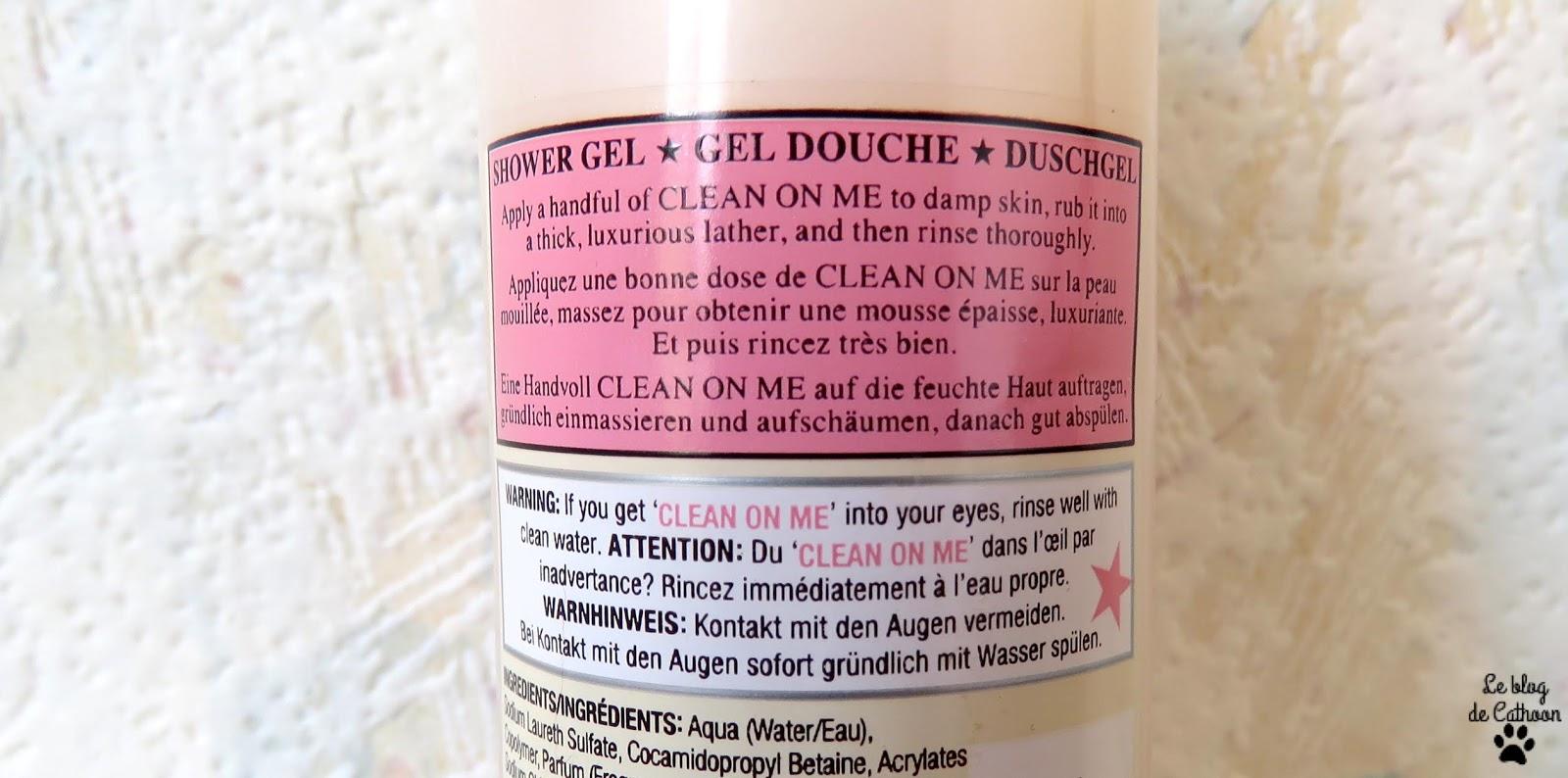 Clean On Me - Crème de Gel Douche Hydratante
