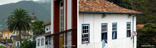Fachadas coloniais de Ouro Preto, Minas Gerais