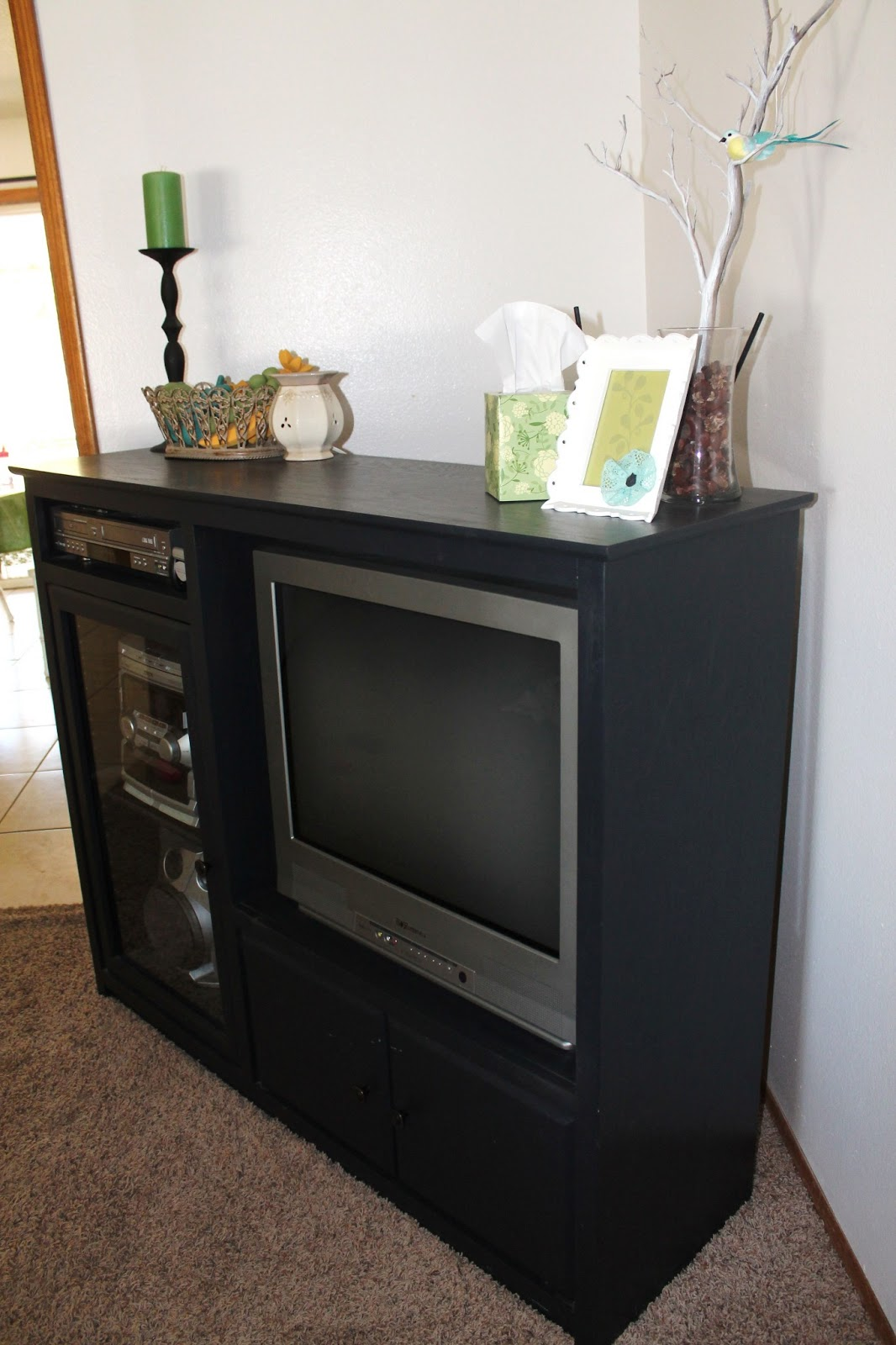 Homemade Home Painting My Entertainment Center