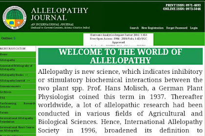 Allelopathy Journal Journal Scopus 2019