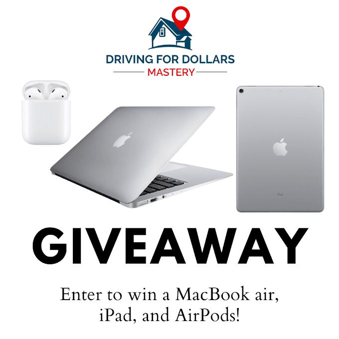 Sorteio de um MacBook Air, iPad Air e AirPods