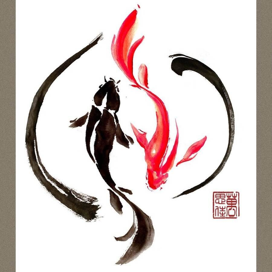 08-Yin-and-Yang-Goldfish-Dirk-Swan-www-designstack-co