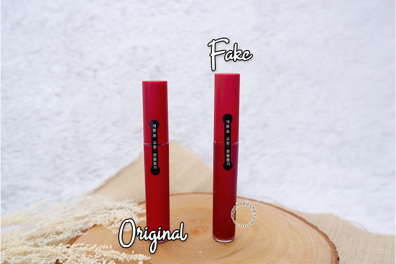 3CE Velvet Lip Tint Original VS Fake