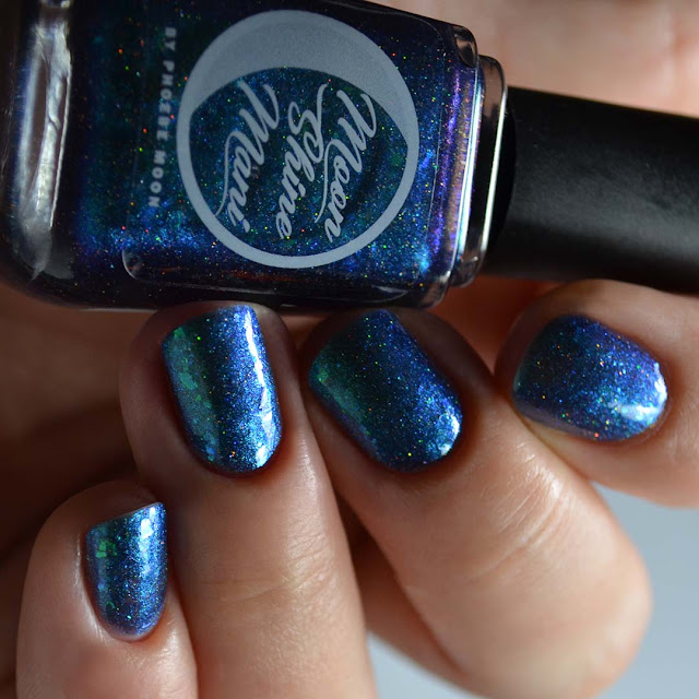 blue jelly color shifting nail polish