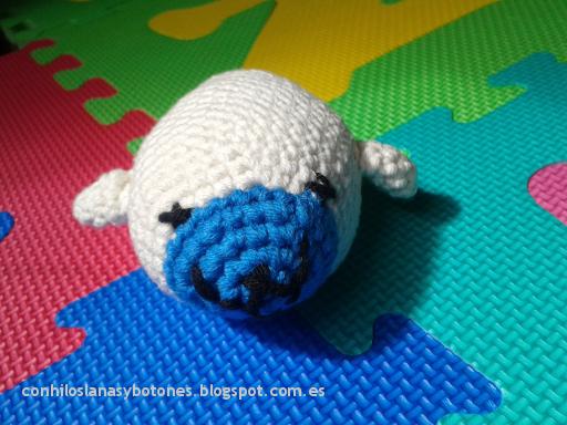 conhiloslanasybotones - foca amigurumi ganchillo