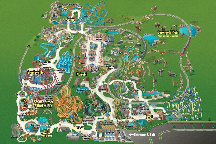 O Melhor De Orlando Fl Mapas Dos Parques Sea World