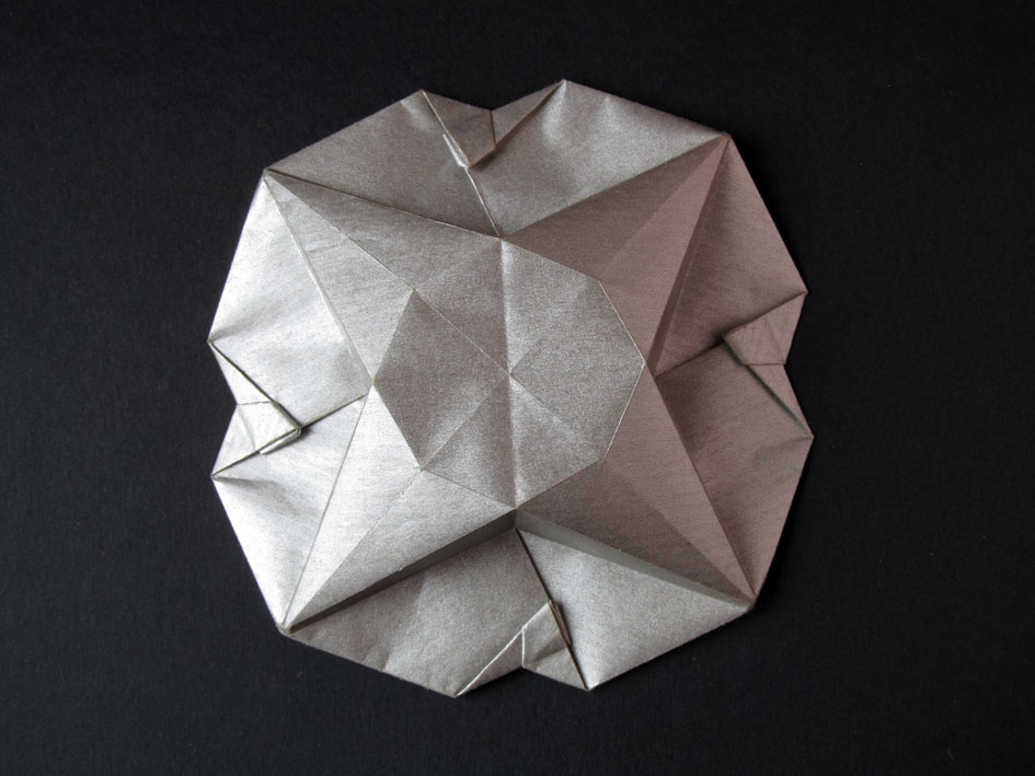 Origami Scatola Stella-fiore, retro - Flower-star box, back, Francesco Guarnieri
