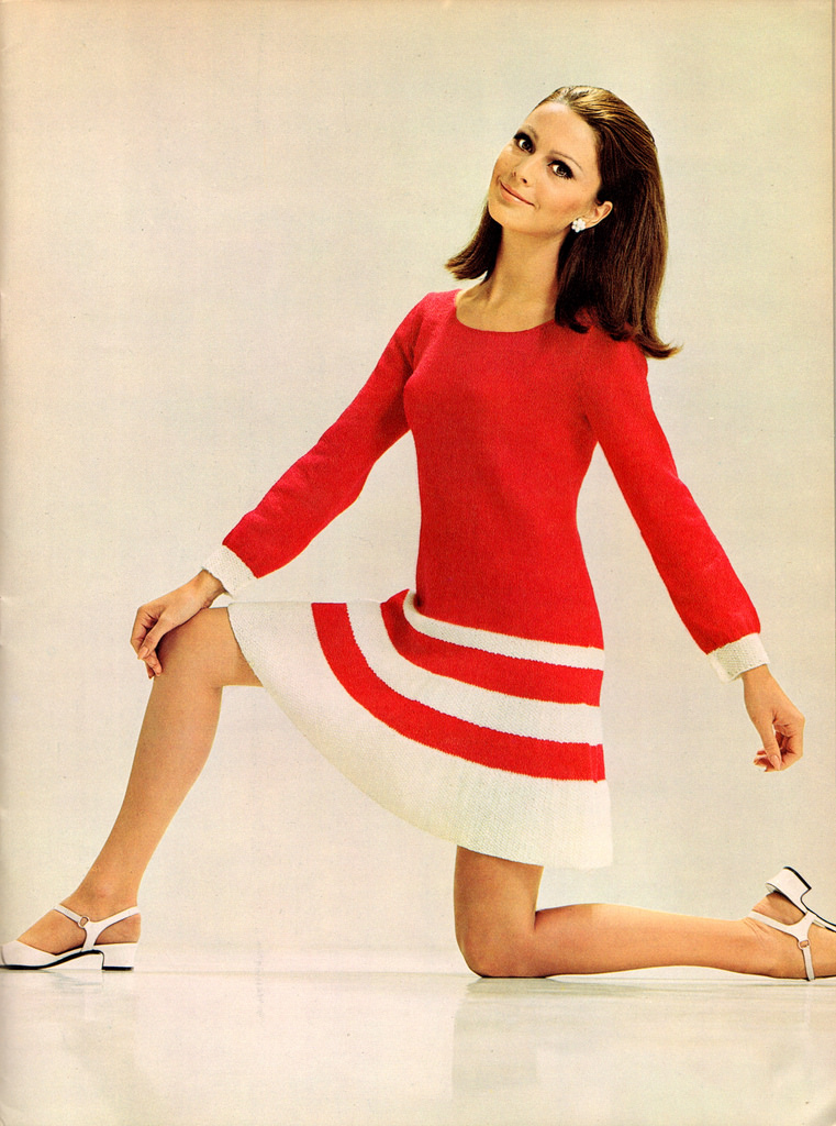 Beautiful Knitted Dress Fashion of the 1960s ~ Vintage