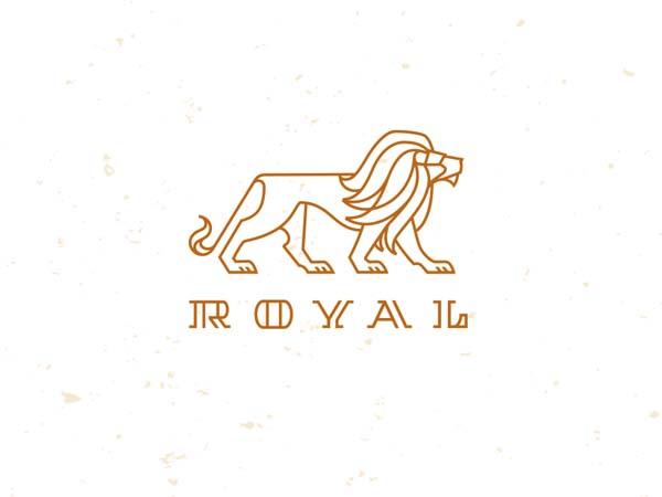 Inspirasi Desain Logo Monoline 2017 - Royal Monoline Logo